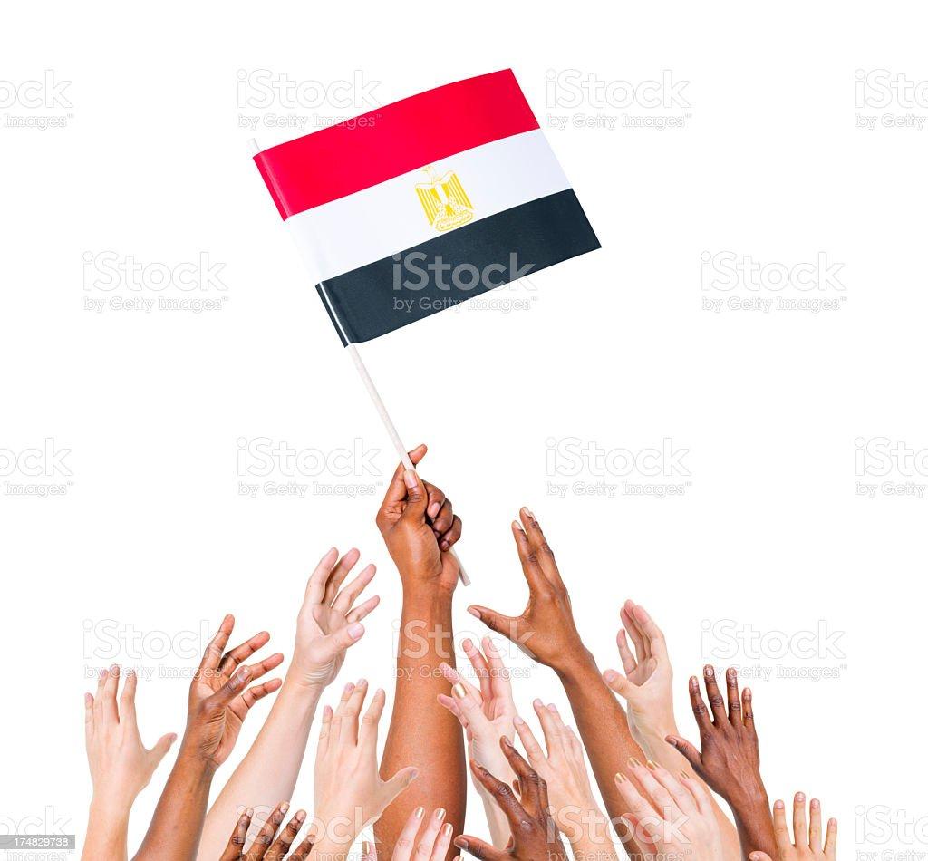 Egypt Flag royalty-free stock photo