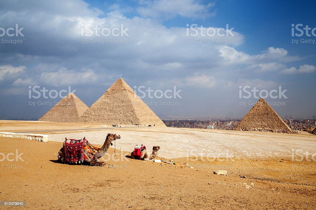 Egypt Giza Pyramids stock photo