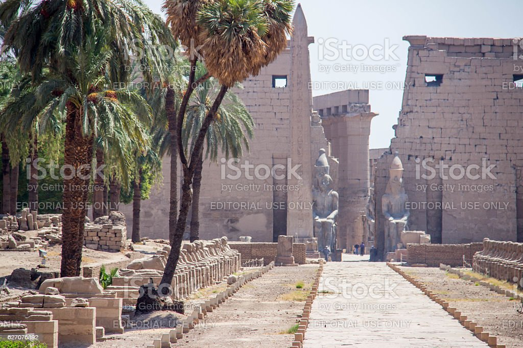 Egypt: Luxor Temple stock photo