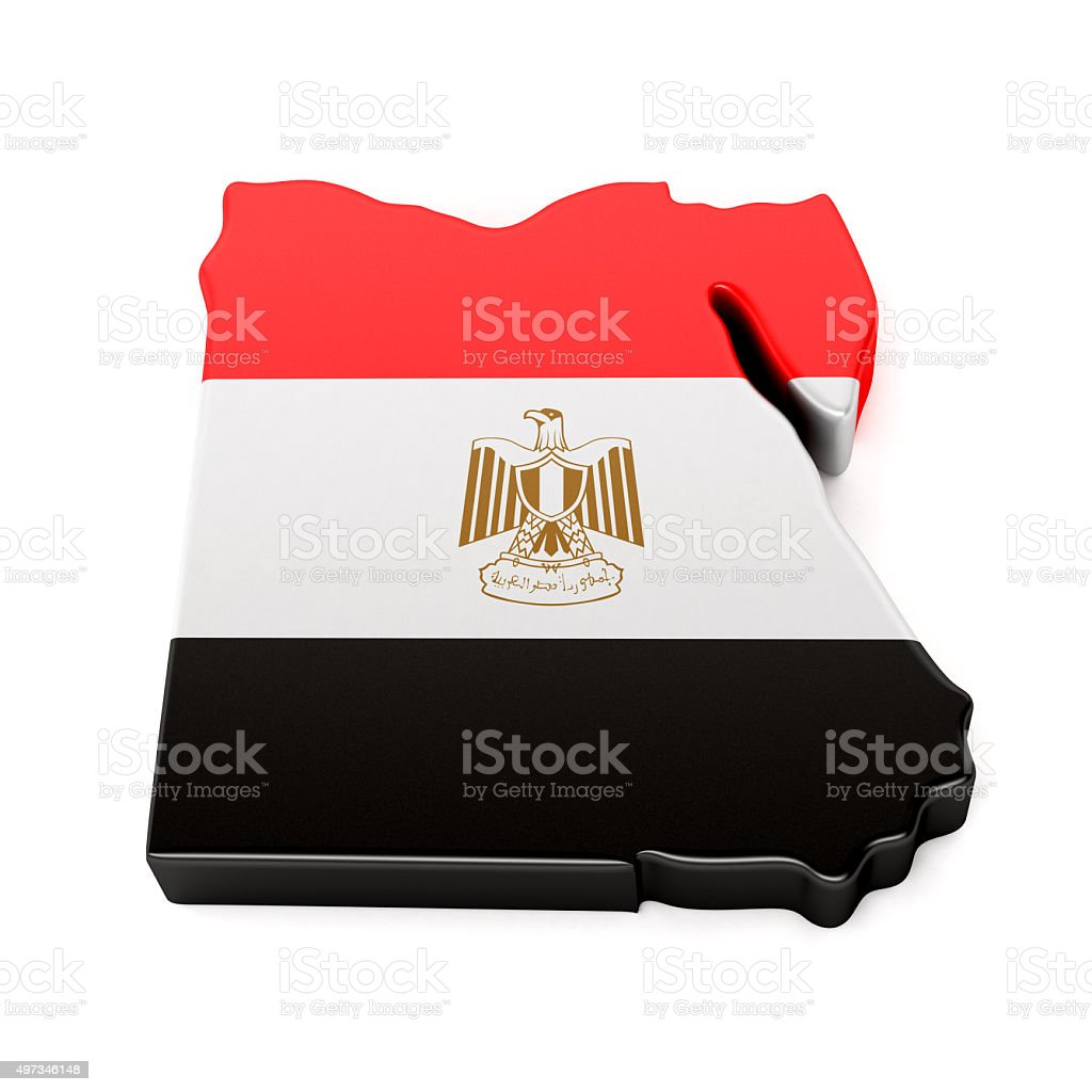 Egypt Map stock photo