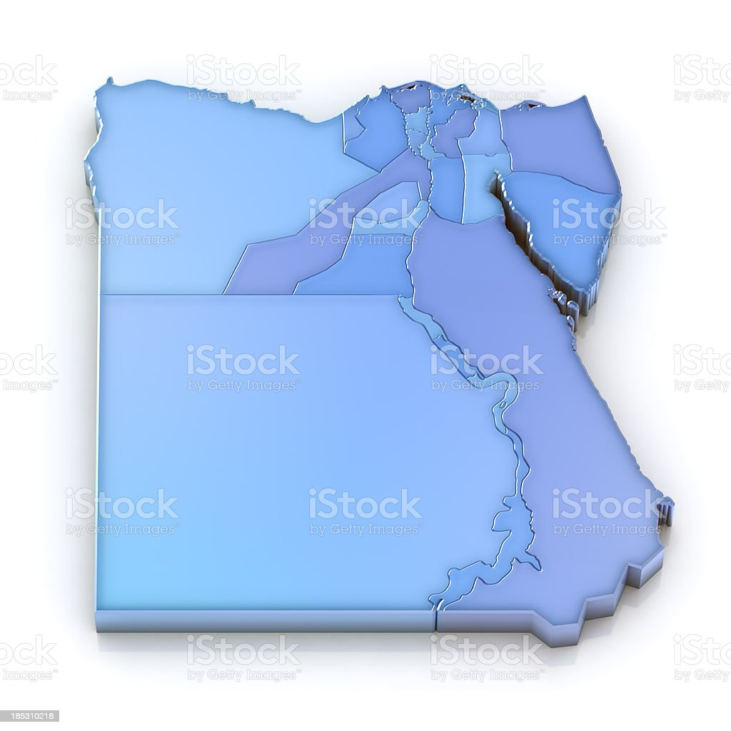 Egypt map with administrative divisions royalty-free stock photo
