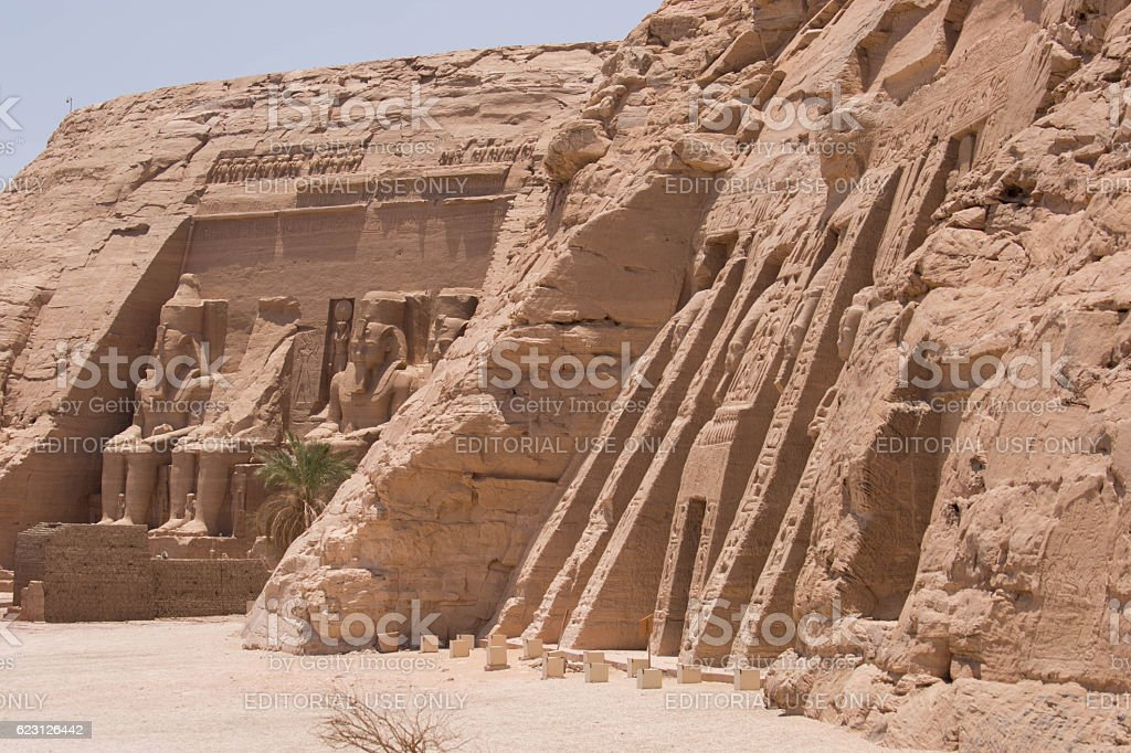 Egypt: Monuments at Abu Simbel stock photo