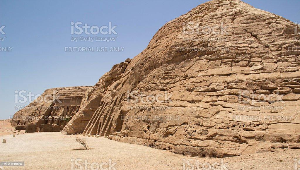 Egypt: Monuments at Abu Simbel stock photo