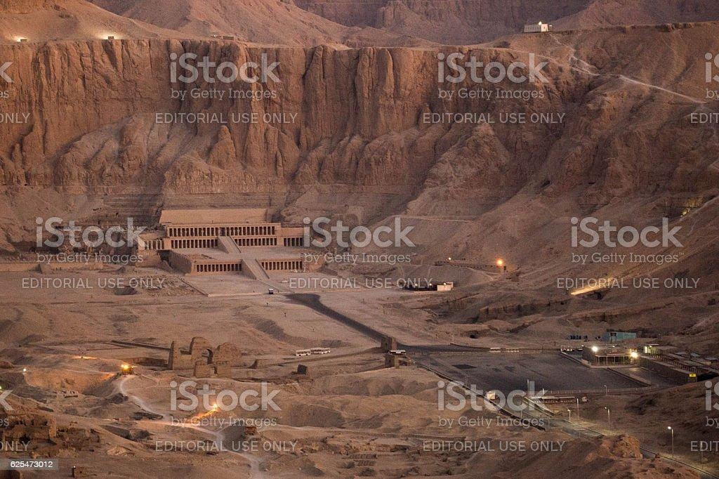 Egypt: Mortuary Temple of Hatshepsut in Luxor stock photo