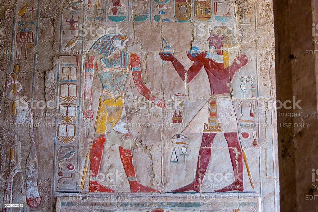 Egypt: Mortuary Temple of Hatshepsut stock photo