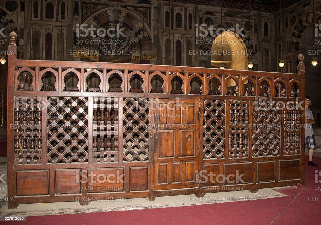 Egypt: Mosque-Madrassa of Sultan Hassan in Cairo stock photo