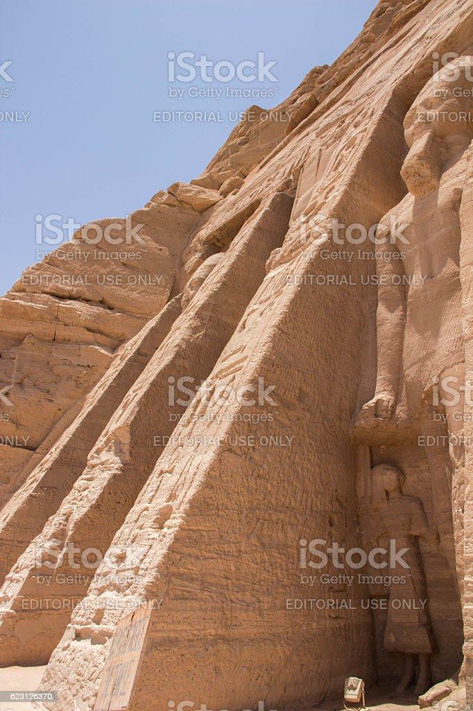 Egypt: Nefertari's Temple of Hathor at Abu Simbel stock photo