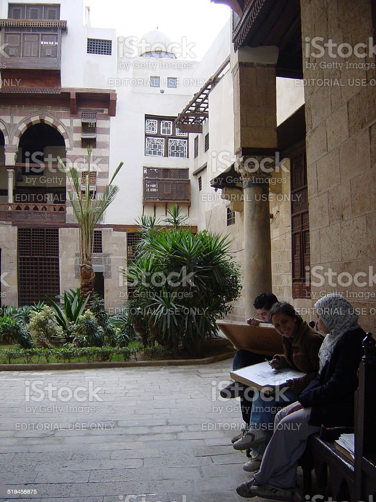 Egypt – Old_Cairo, The traditional Arabic architecture... stock photo