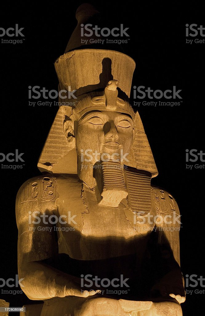 Egypt, Pharaoh Ramses II royalty-free stock photo