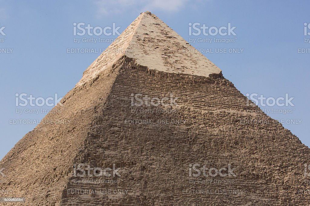 Egypt: Pyramid of Khafre in Giza stock photo