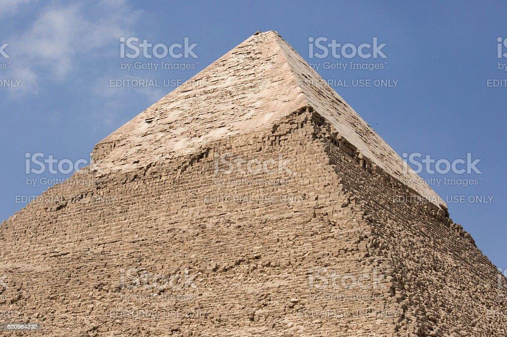 Egypt: Pyramid of Khafre in Giza stock photo