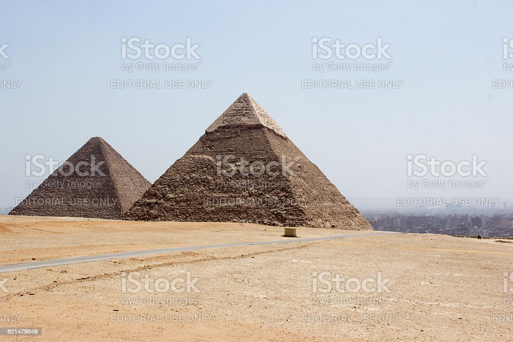 Egypt: Pyramids at Giza stock photo