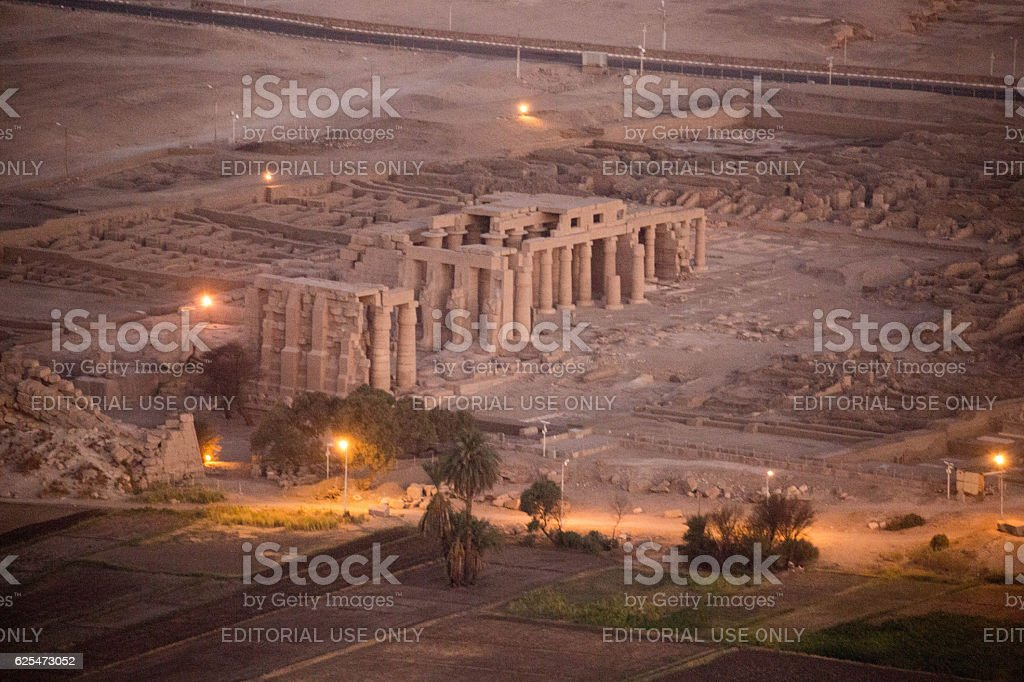 Egypt: Ramesseum in Luxor stock photo