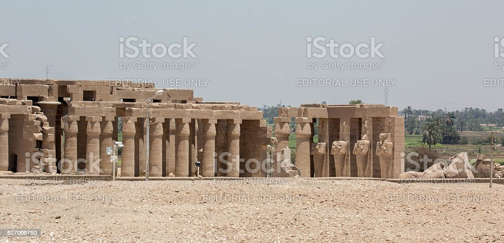 Egypt: Ramesseum in Luxor stock photo