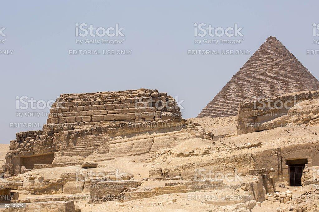 Egypt: Ruins at Giza stock photo