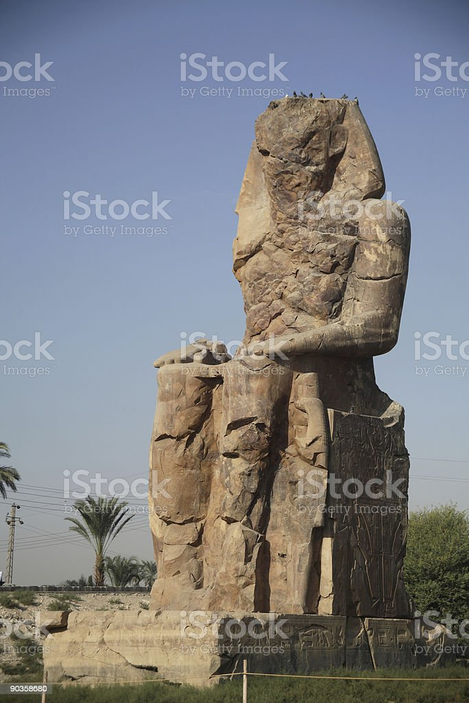 Egypt Series (Statue - Right) royalty-free stock photo