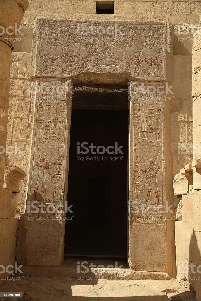 Egypt Series (Doorway) royalty-free stock photo