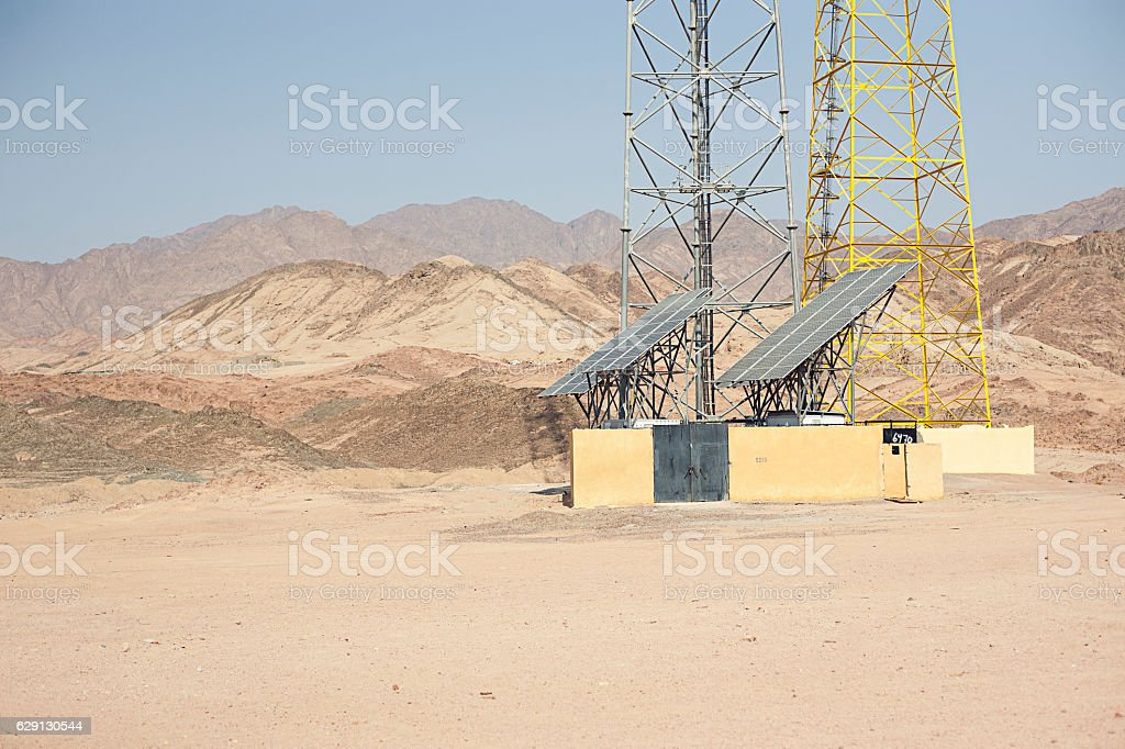 Egypt Solar Panels stock photo