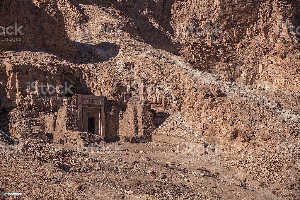 Egypt Tomb rock stock photo