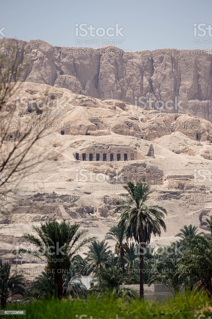 Egypt: Tombs of the Nobles in Luxor stock photo