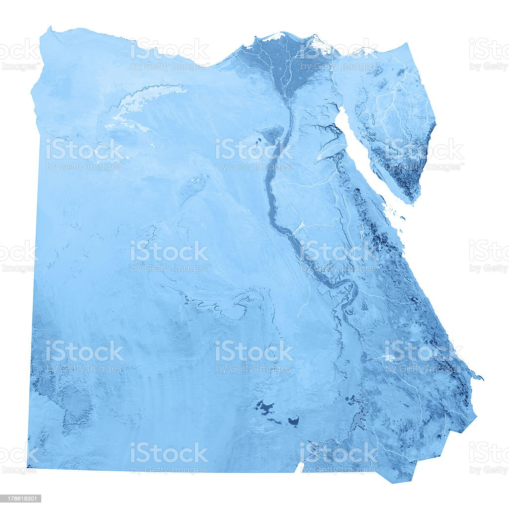 Egypt Topographic Map Isolated royalty-free stock photo