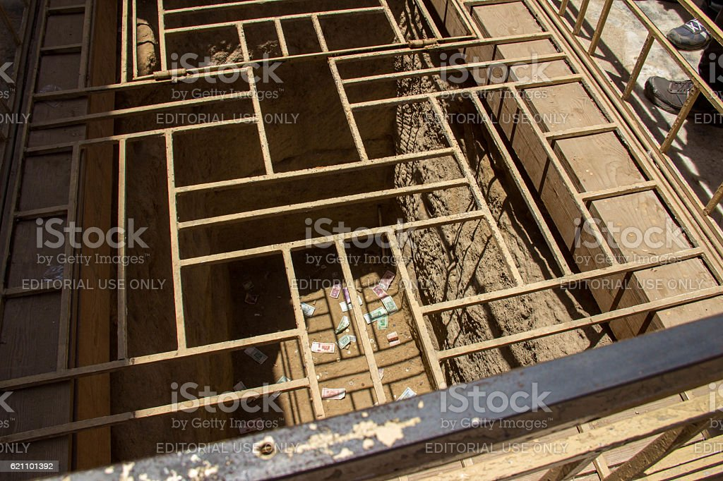 Egypt: Valley Temple of Khafre in Giza stock photo