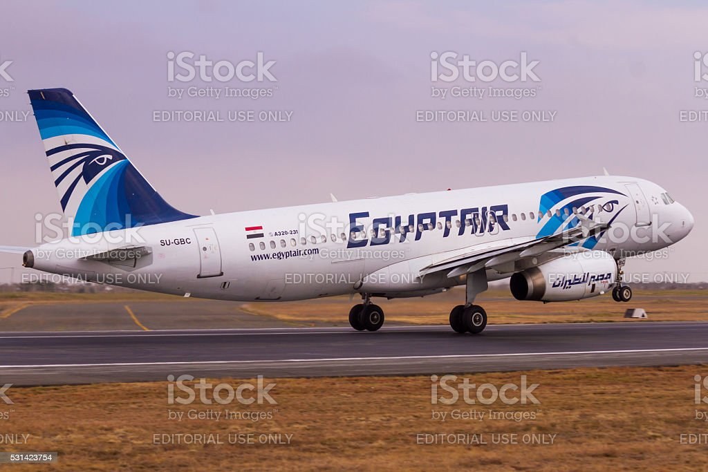 EgyptAir A320 Taking Off stock photo
