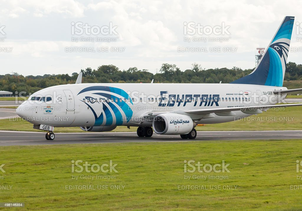 EgyptAir Boeing 737 stock photo