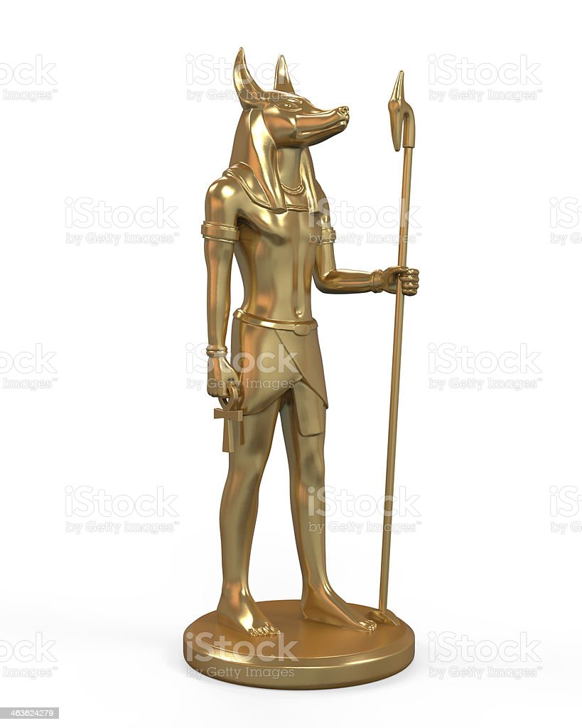 Egyptian Anubis Statue stock photo