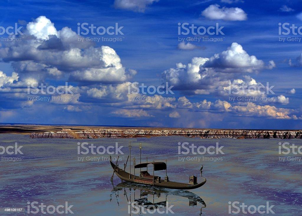 Egyptian Barge royalty-free stock photo