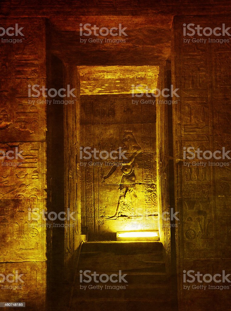 Egyptian Birthing Chamber stock photo