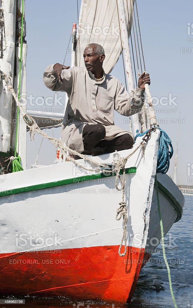 Egyptian Boatman royalty-free stock photo