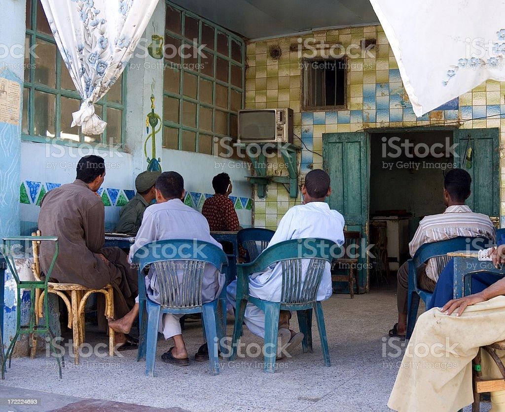 Egyptian cafe society stock photo