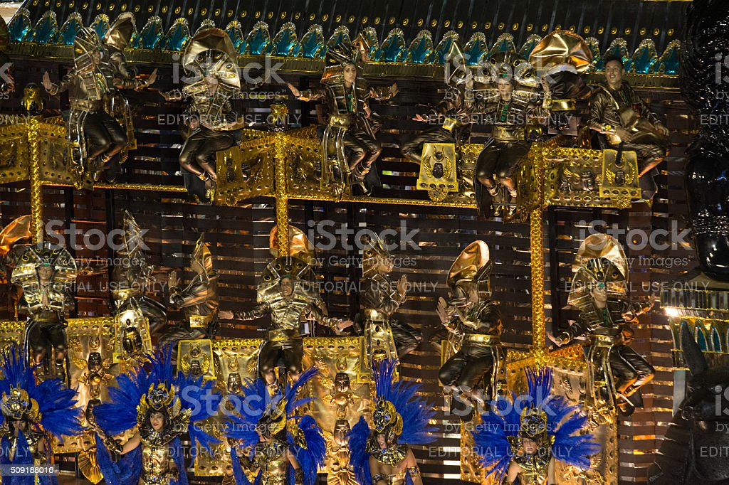 Egyptian carnival costumes royalty-free stock photo