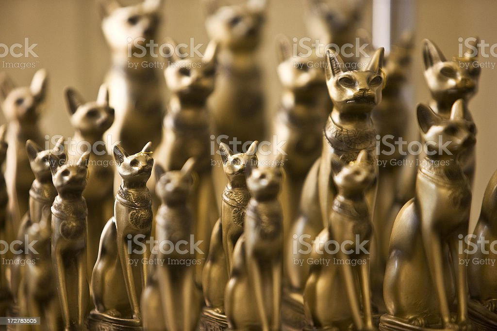 Egyptian cat statue stock photo