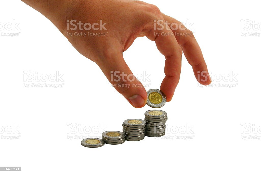Egyptian Coins stock photo