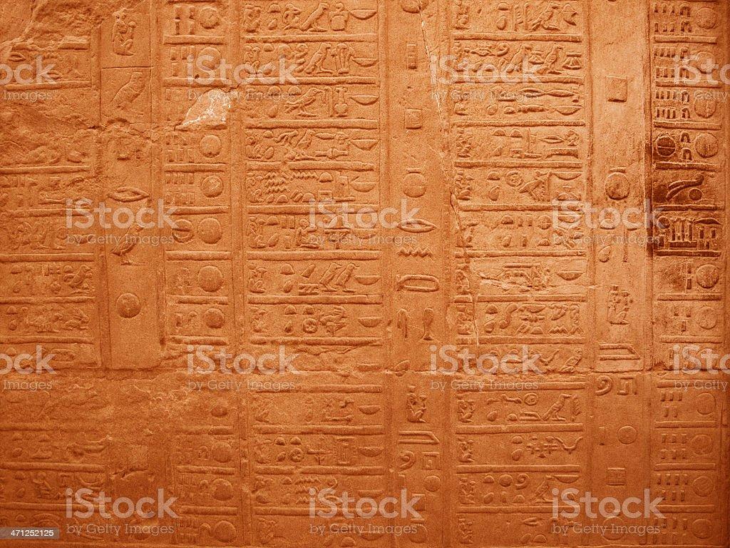 Egyptian Day Planner Hieroglyph stock photo