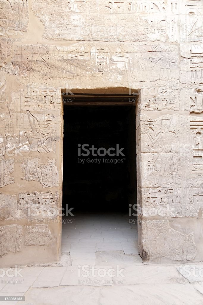 Egyptian door royalty-free stock photo
