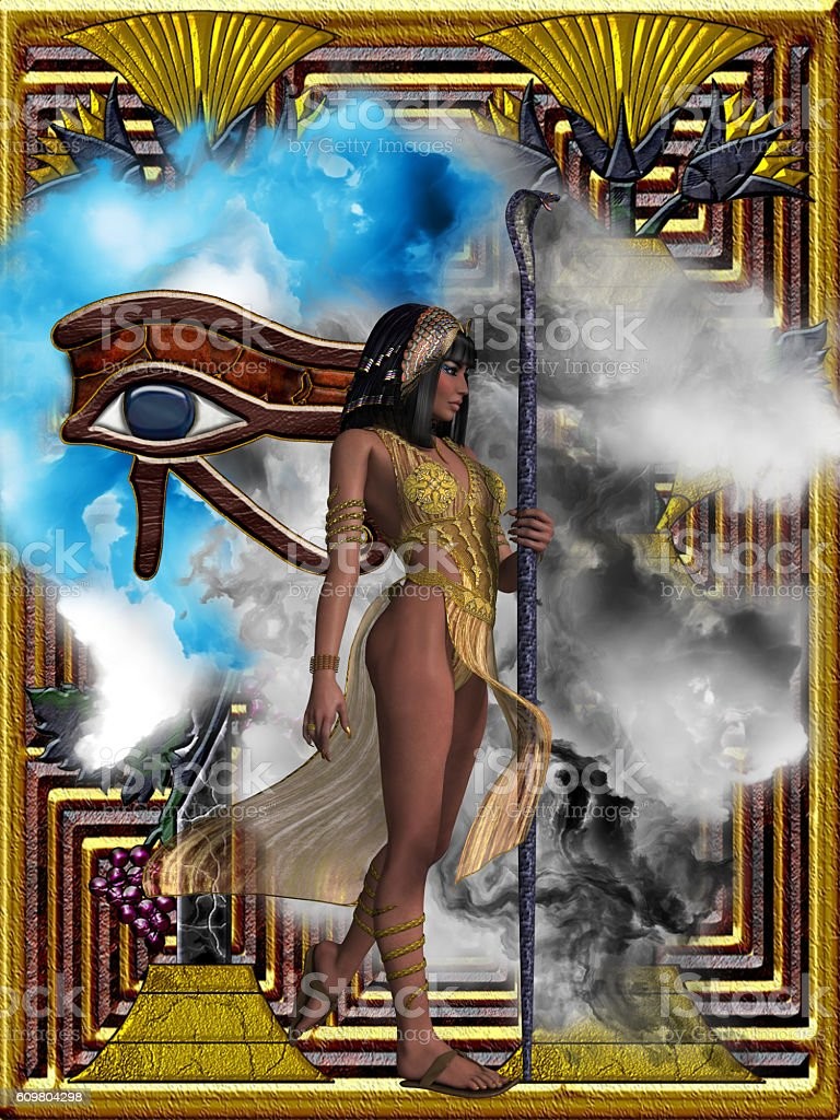Egyptian Echoes of Time stock photo