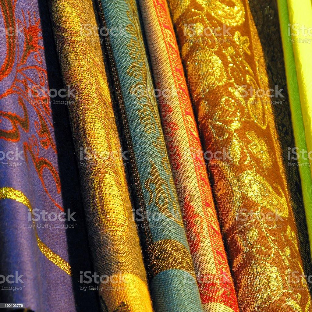 Egyptian Fabrics royalty-free stock photo