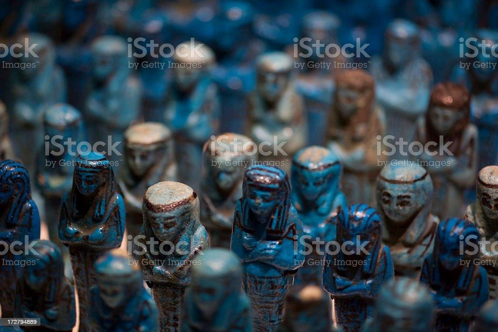 Egyptian Faience Figurines stock photo