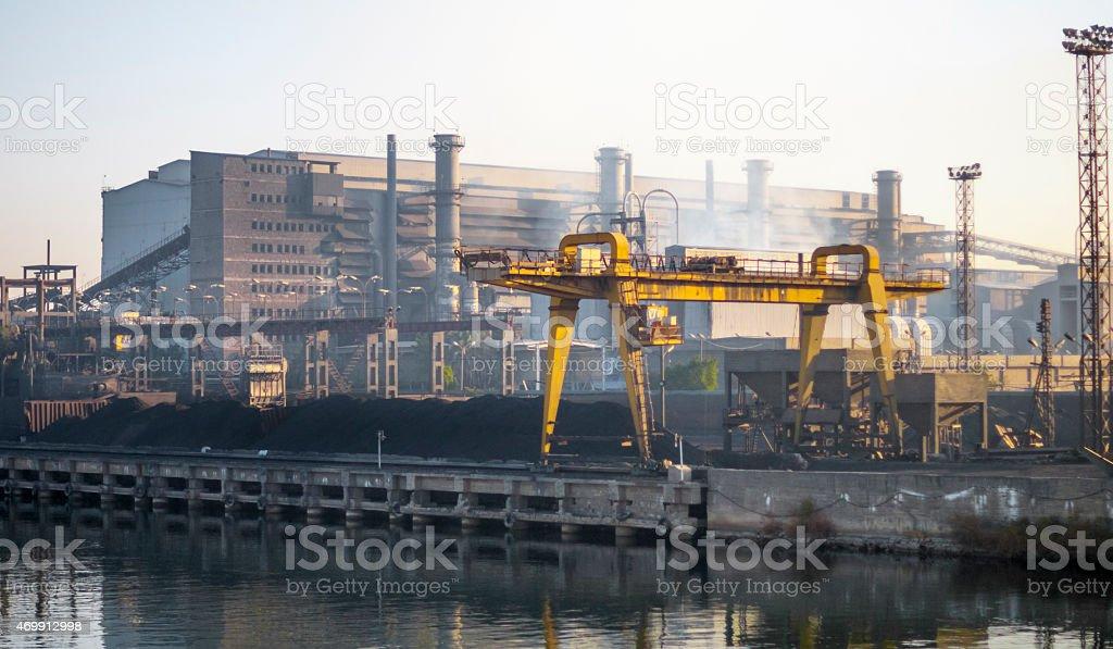 Egyptian Ferro Alloys factory stock photo