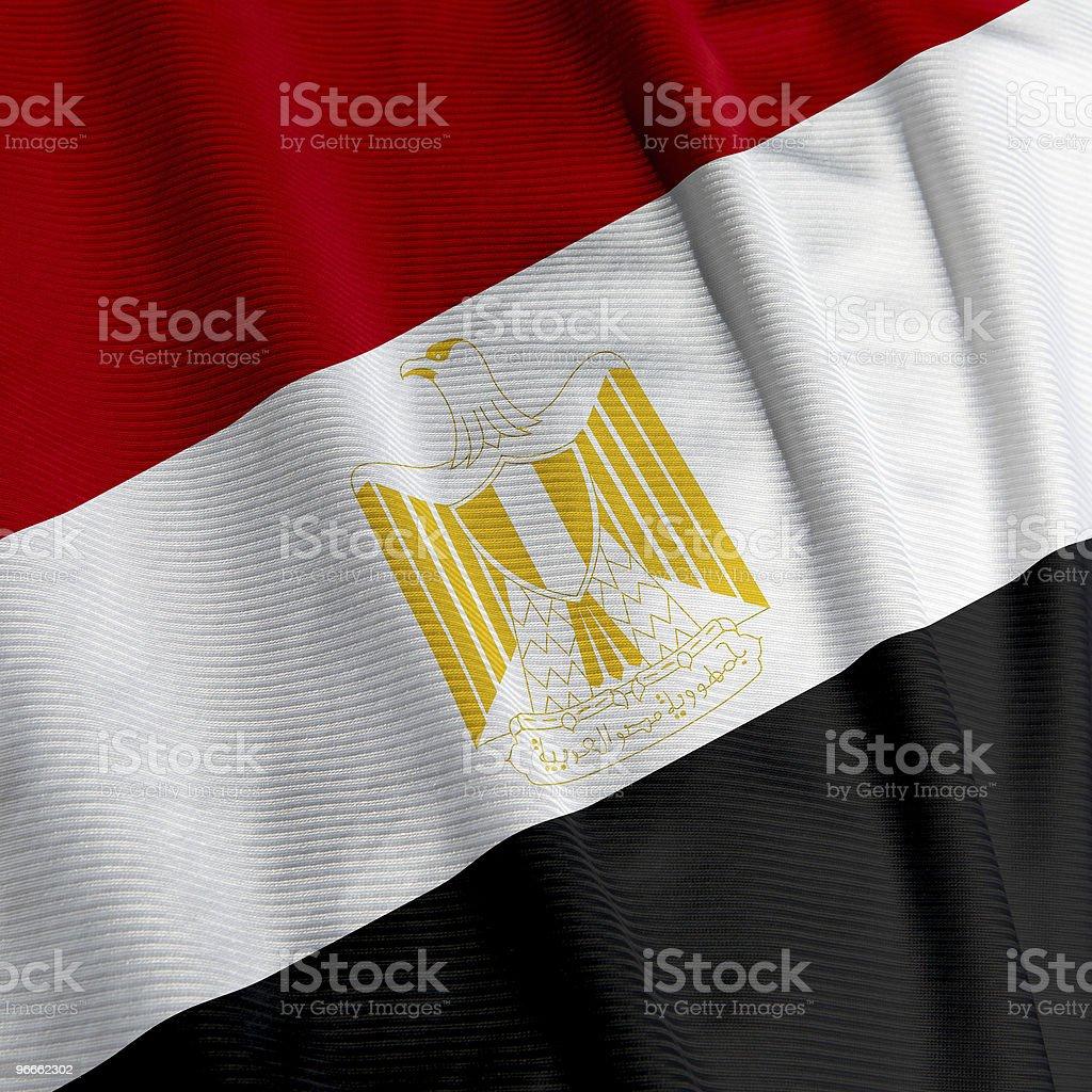 Egyptian Flag Closeup stock photo