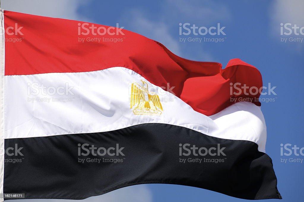 Egyptian flag. stock photo