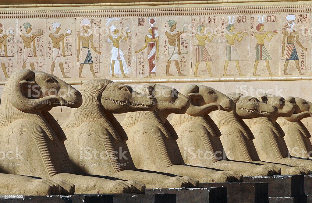 egyptian fresco stock photo