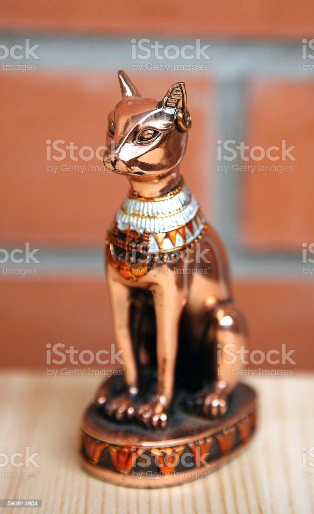 Egyptian Goddess cat Bastet stock photo
