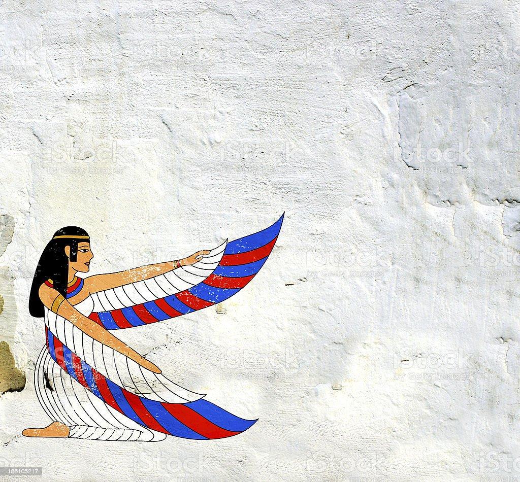 Egyptian goddess Isis image stock photo