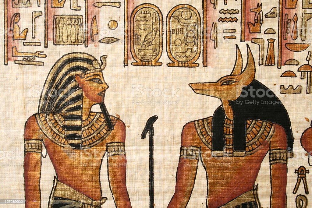 Egyptian gods royalty-free stock photo