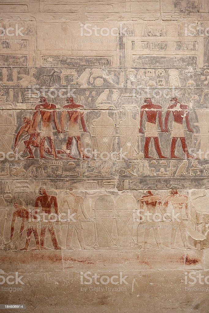 Egyptian grave stock photo