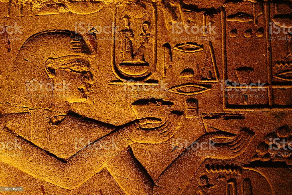 Egyptian hiearoglifs royalty-free stock photo